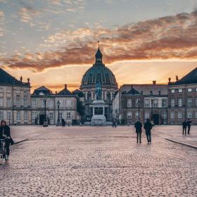 Amalienborg Palace in central Copenhagen